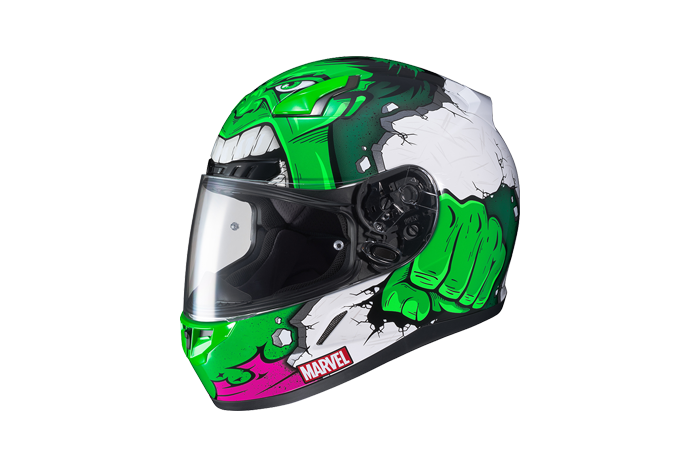 HJC CL-17 Marvel Hulk Motorradhelm Grün//Weiß